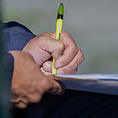 hand writing plans
