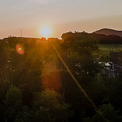exploration and production sunset landscape