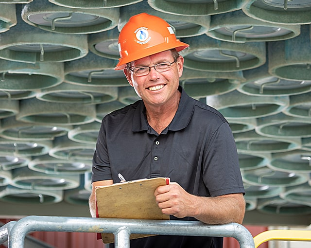 portrait of worker in field