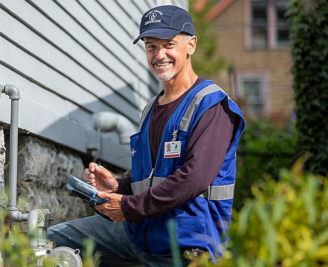 meter reader in the field
