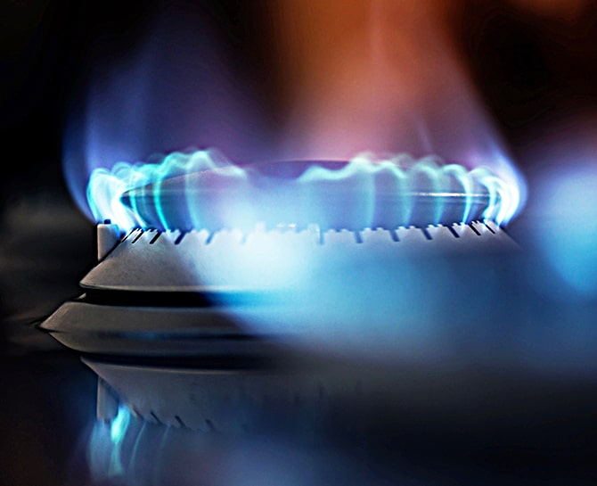 gas stovetop burner