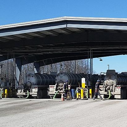 Truck bays